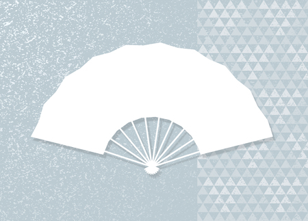 Triangular patterns and folding fan.