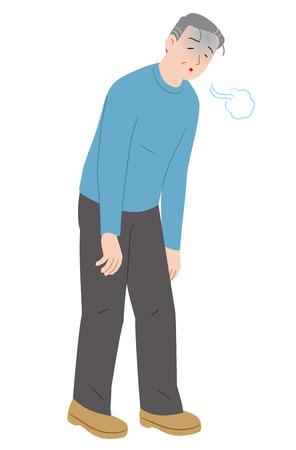 personne âgée se sentant fatiguée