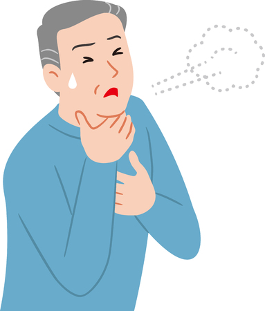 personne âgée ayant des difficultés à respirer Vecteurs