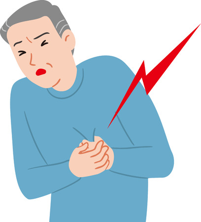 Ciudadano mayor de infarto Ilustración de vector