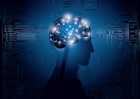 Imagen de inteligencia artificial, tecnología.
