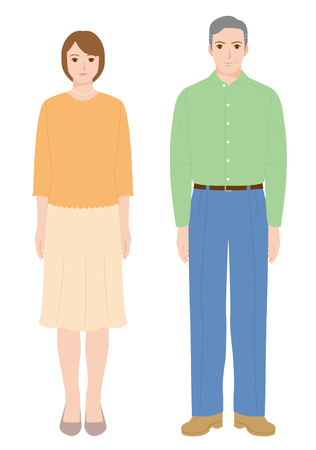 Middle-aged couple with a smile.