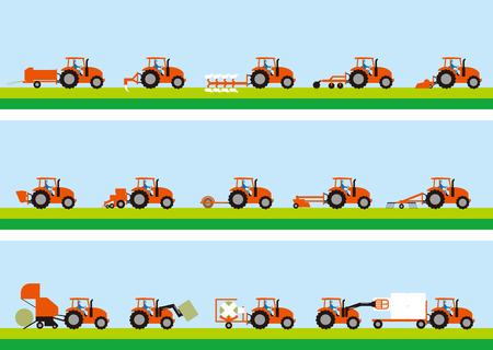 Agricultural tractor and grass cultivation