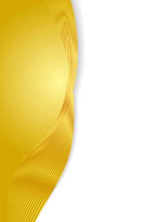 Gold wave background line background material