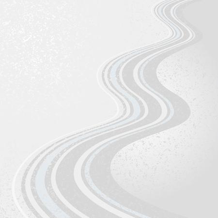 Fließendes Wassermuster, japanischer Stil. Vektorgrafik