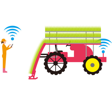 Mechanization of rice crops