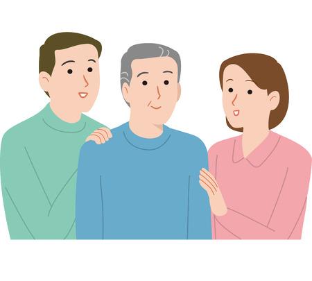 Father and family couple Ilustração