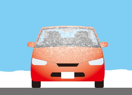 Escarcha en el parabrisas del coche