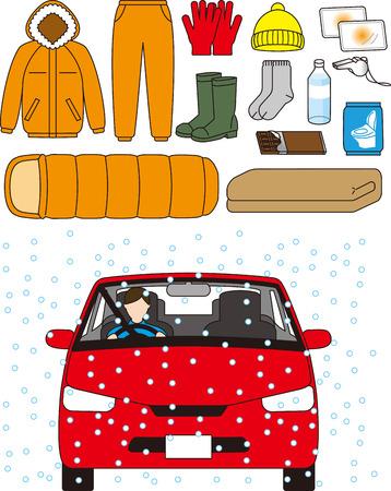 Winter-Notfallausrüstung für Autos