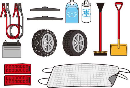 Winter equipment of car