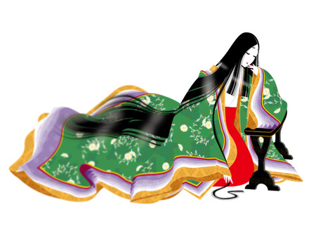 Japanese traditional costumes. kimonos. does not specify the age of history.