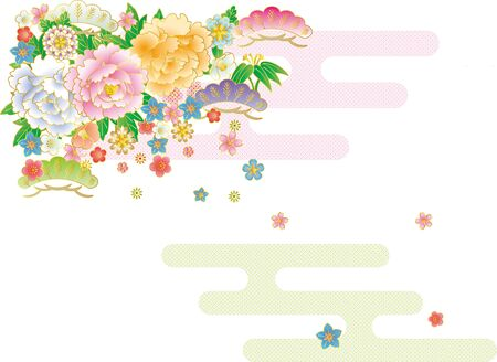 Japanese bouquet and mist. Background material