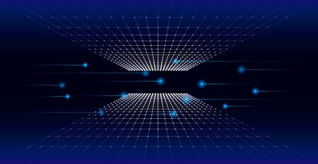 Images of high technology digital technology. Abstract and futuristic blue background color.