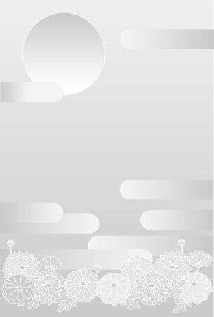Chrysanthemum J. Card image. Vector background material