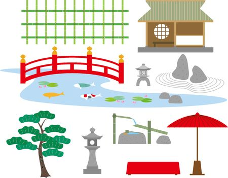Japanese garden equipment material