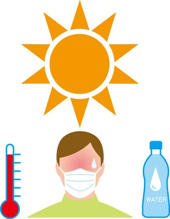 Risk of heat stroke due to infection prevention mask