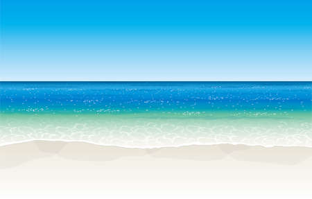 Tropical seaside. Vector material Illustration