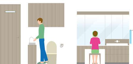 Housing. Toilet and toilet interior