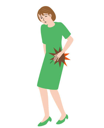 Middle-aged woman feeling hip pain