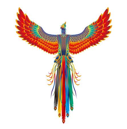 Fancy spirit beast. Image of Chinese phoenix Illustration