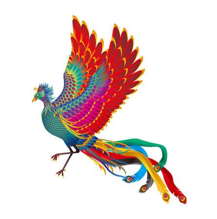 Fancy spirit beast. Image of Chinese phoenix