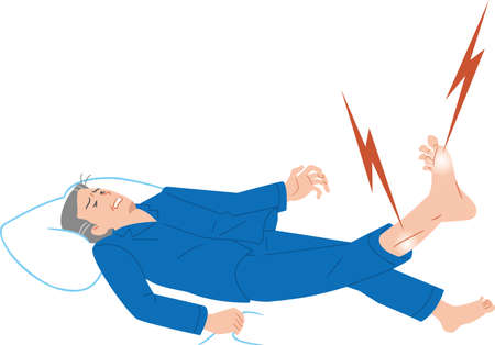 Senior man who hurts due to leg cramps
