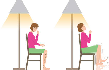 A woman who has uncomfortable legs and moves her legs at night