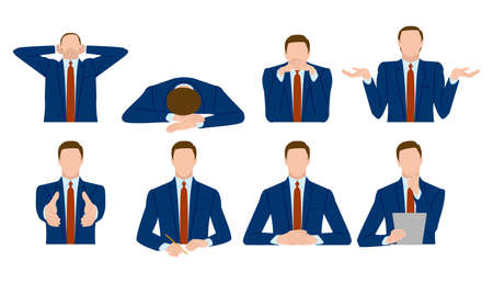 The gesture of a businessman. Vector material