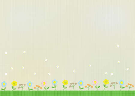 Wildflower illustration background material