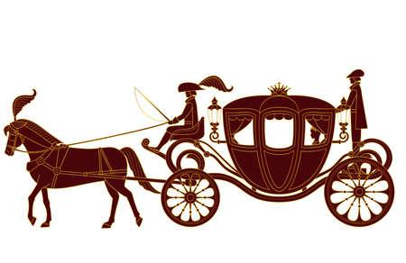 European-style carriage illustration