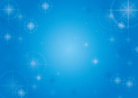 Shining star and blue background material vector