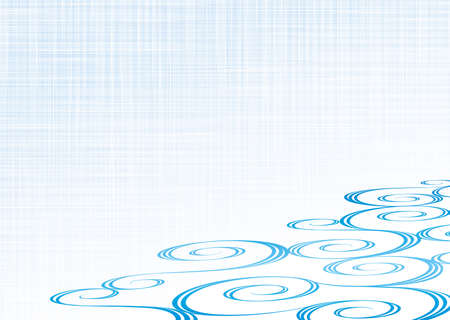 Japanese traditional swirling water flow pattern. Vector background material