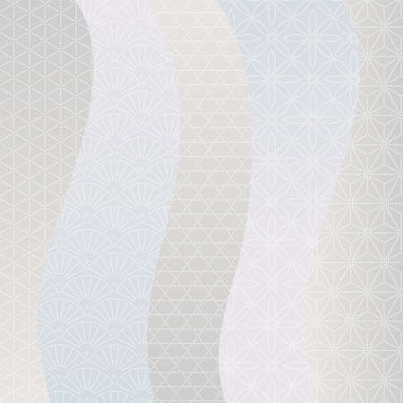 Japanese style image. Light color line background material with traditional dot pattern.