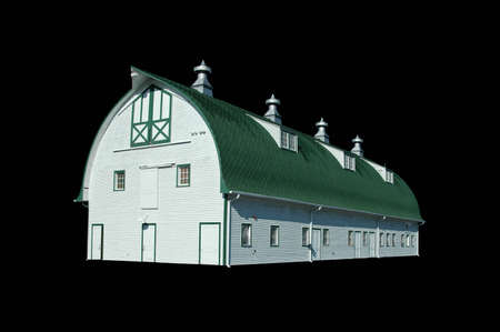 A isolated picture of a vintage barn Stock Photo