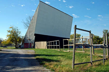 A picture of a vintage drive in movie theater photo