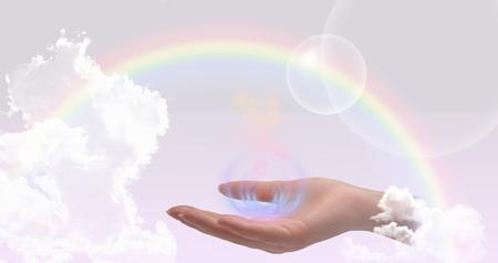 Healing hands website header