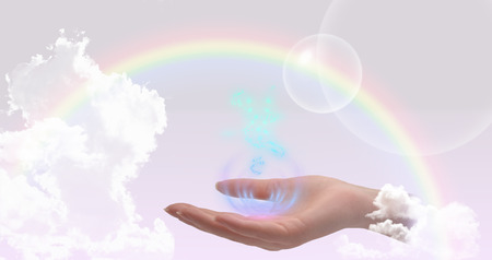 color healing: Healing hands website header
