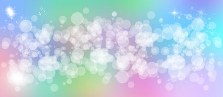 color therapy: Gentle multicolored bokeh sparkly website headerbanner Stock Photo