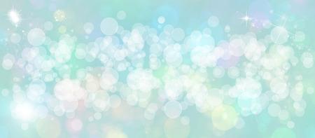 wispy: Gentle multicolored bokeh sparkly website headerbanner Stock Photo
