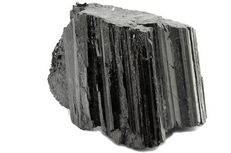 edelstenen: Shorl Zwarte Toermalijn Stockfoto