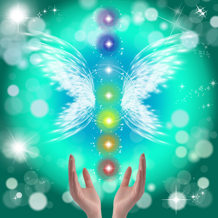universal love: Manos curativas y siete chakras