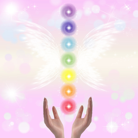 universal enlightenment: Healing hands and seven chakras