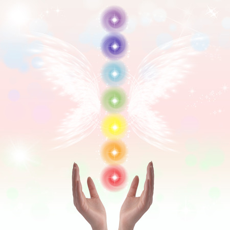 energy channels: Healing hands and seven chakras