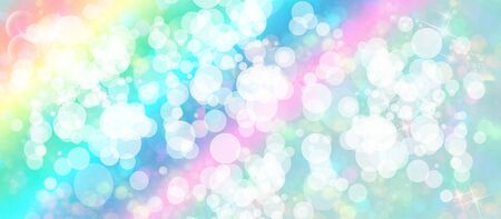 sparkly: Gentle multicolored bokeh sparkly website headerbanner Stock Photo