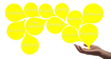 energy healing: Colour Therapy - Yellow healing energy Stock Photo