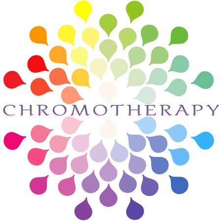 Chromotherapy colour spectrum Logo
