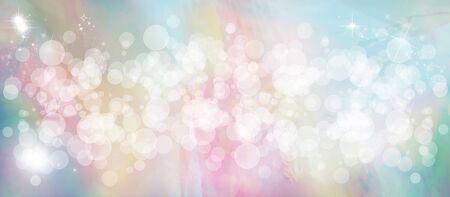 Gentle multicolored bokeh sparkly website headerbanner Stock Photo