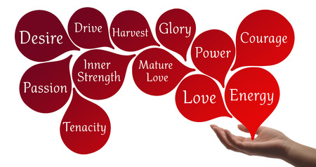 spiritual background: Colour Therapy - Red healing energy
