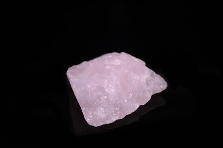 rose quartz: Rose Quartz on black background
