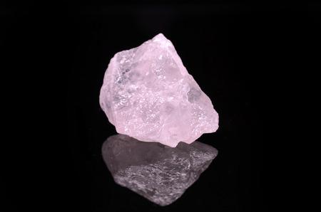 quartz: Rose Quartz on black background